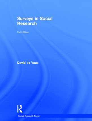 Surveys In Social Research Taylor Francis Group