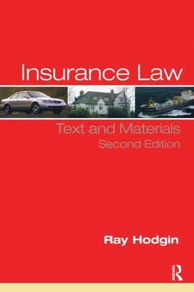 Insurance Law | Text and Materials | Taylor & Francis Group