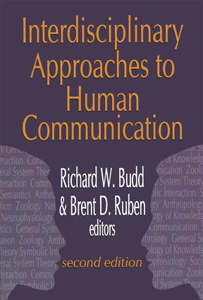 Interdisciplinary Approaches To Human Communication Taylor