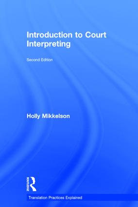 Introduction to Court Interpreting | Taylor & Francis Group