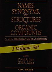Names, Synonyms, and Structures of Organic Compounds