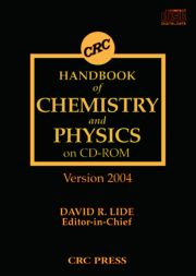 CRC Handbook of Chemistry and Physics on CD-ROM Version 2004