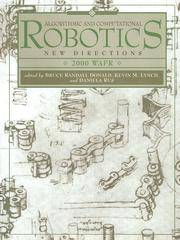 Algorithmic and Computational Robotics