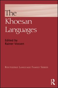The Khoesan Languages Jacket