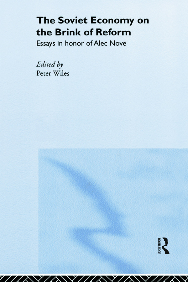 Soviet Economy Brink Of Reform (Hardback) book cover