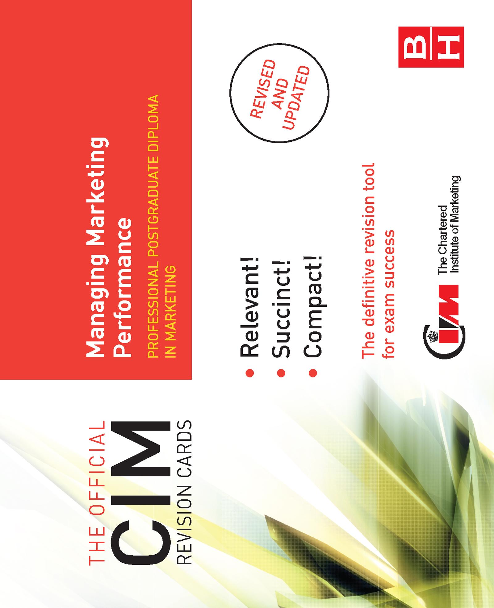 CIM Revision Cards Managing Marketing Performance