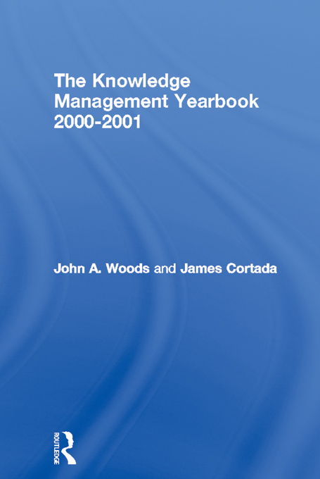 The Knowledge Management Yearbook 2000-2001