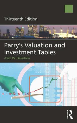 Parry's Valuation and Investment Tables: 13th Edition (Hardback) book cover