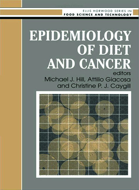 Epidemiology Of Diet And Cancer: 1st Edition (Hardback) book cover