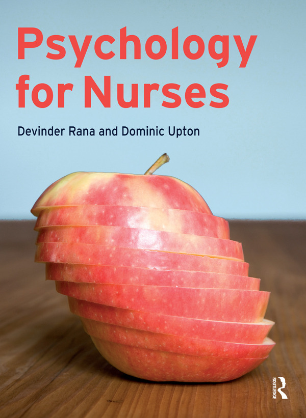 Psychology for Nurses (Paperback) book cover