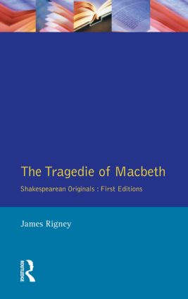 The Tragedie of Macbeth: The Folio of 1623 book cover