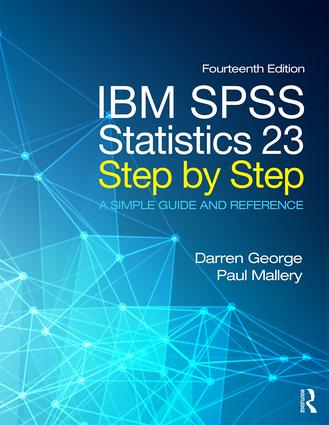 IBM SPSS Statistics 23 Step by Step (Paperback) book cover