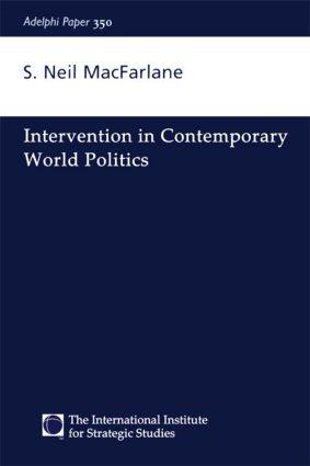 Intervention in Contemporary World Politics