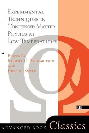 Experimental Techniques In Condensed Matter Physics At Low Temperatures