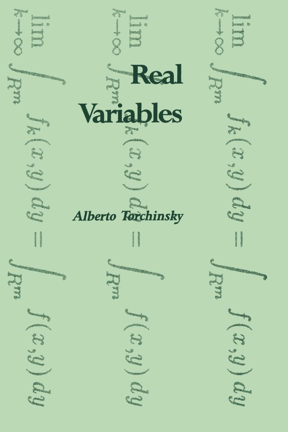 Real Variables: 1st Edition (Paperback) book cover