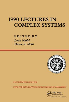1990 Lectures In Complex Systems: 1st Edition (Hardback) book cover