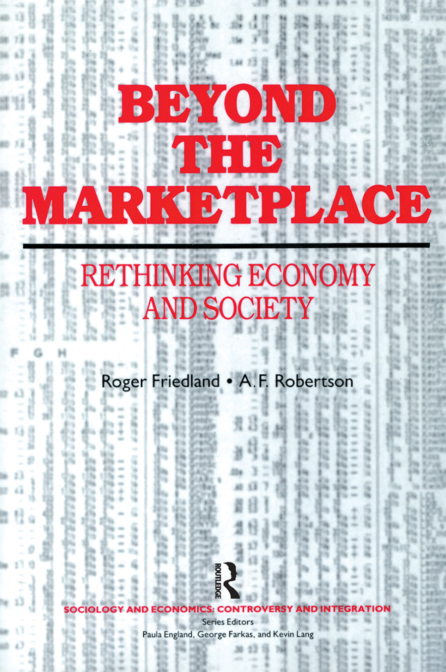 Beyond the Marketplace: 1st Edition (Paperback) book cover