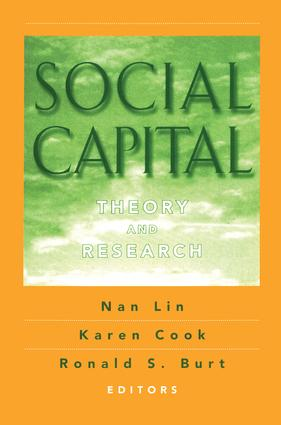 Social Capital: Theory and Research, 1st Edition (Paperback) book cover