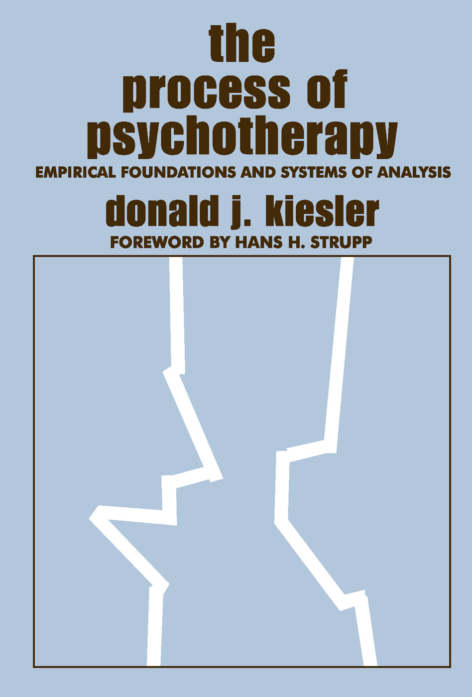 The Process of Psychotherapy: Empirical Foundations and Systems of Analysis, 1st Edition (Paperback) book cover