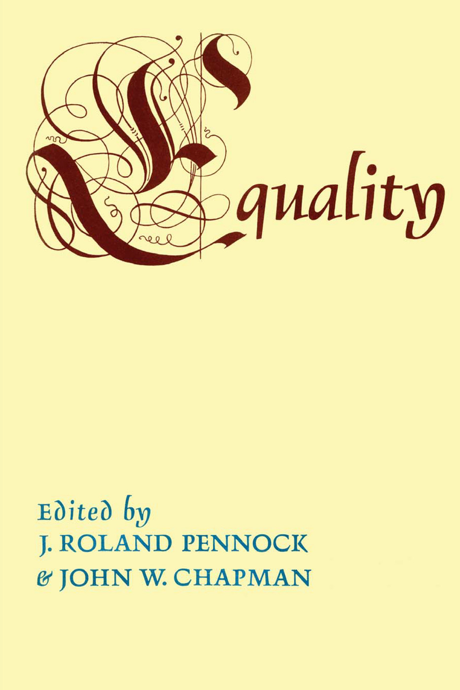 Equality: 1st Edition (Paperback) book cover