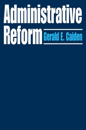 Administrative Reform: 1st Edition (Paperback) book cover