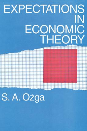 Expectations in Economic Theory: 1st Edition (Paperback) book cover