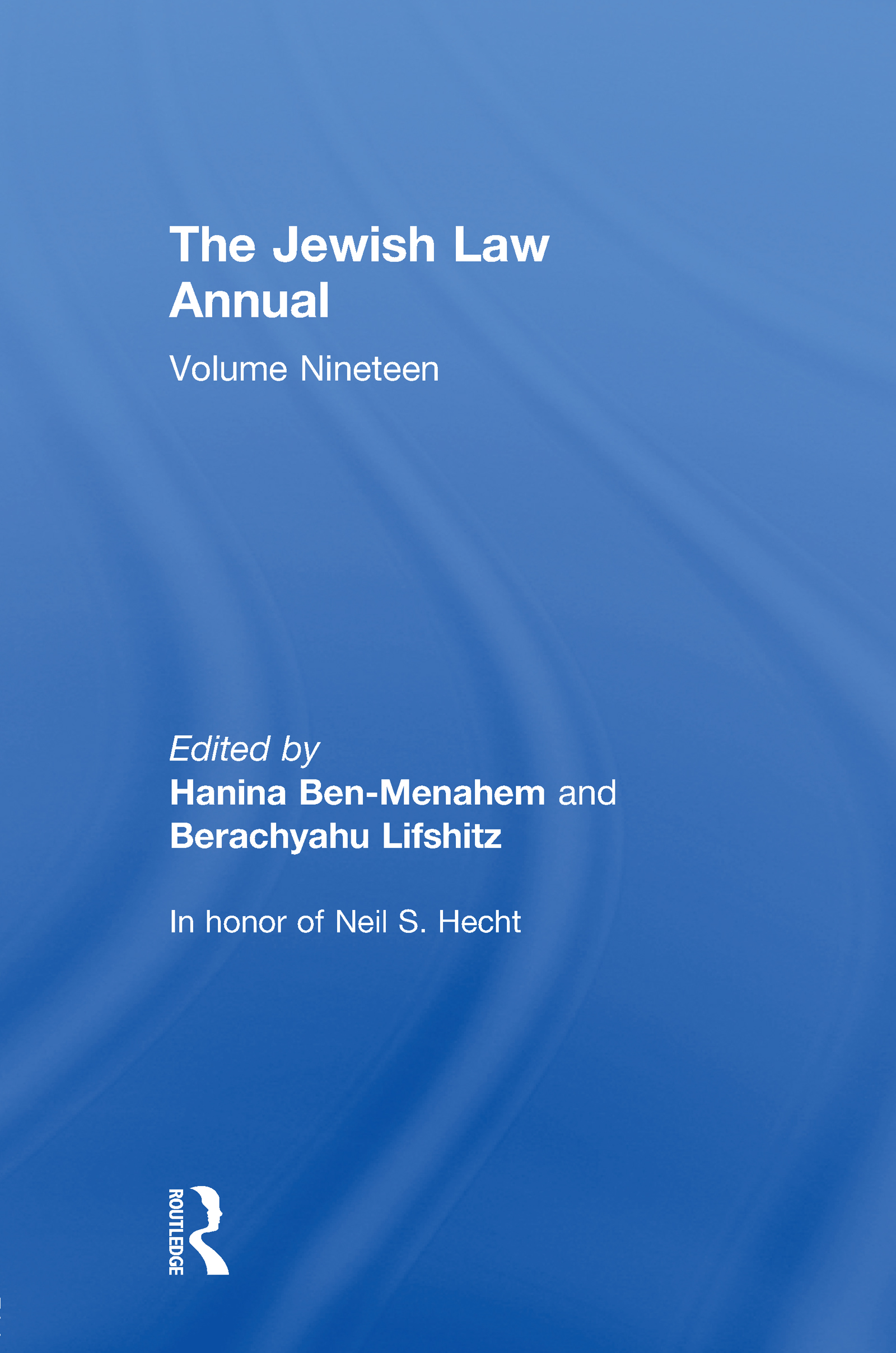 The Jewish Law Annual Volume 19