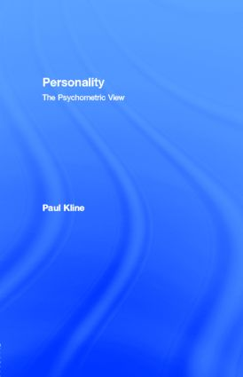 Personality: The Psychometric View, 1st Edition (e-Book) book cover