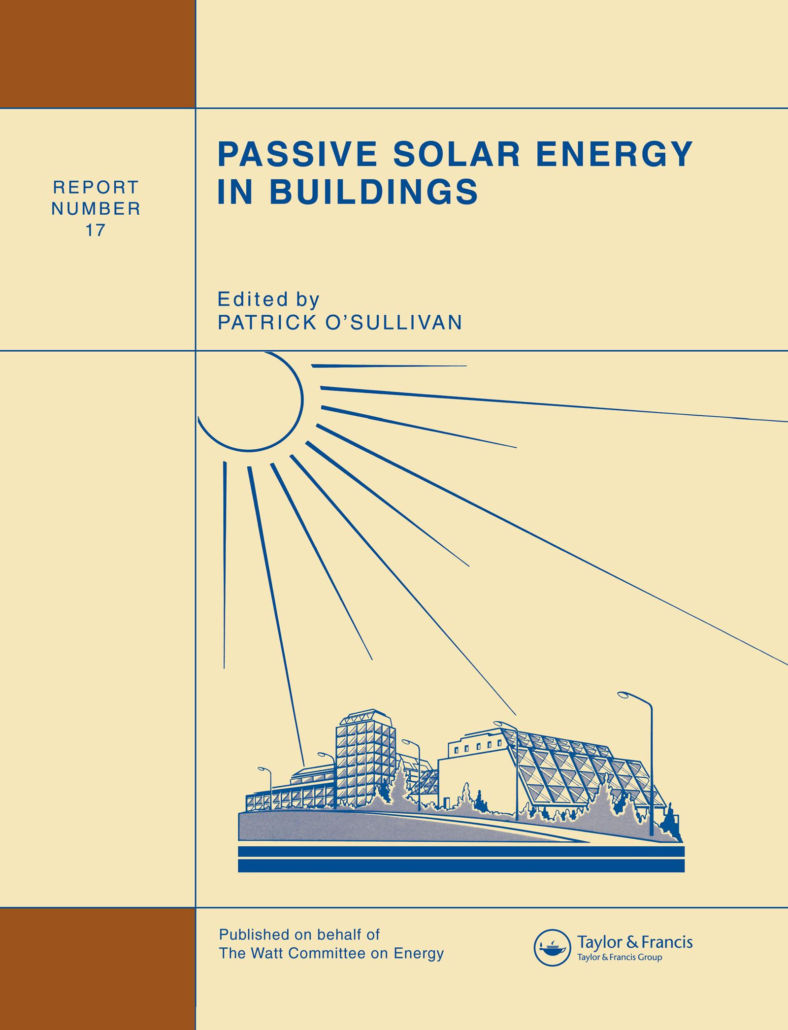 Passive Solar Energy in Buildings