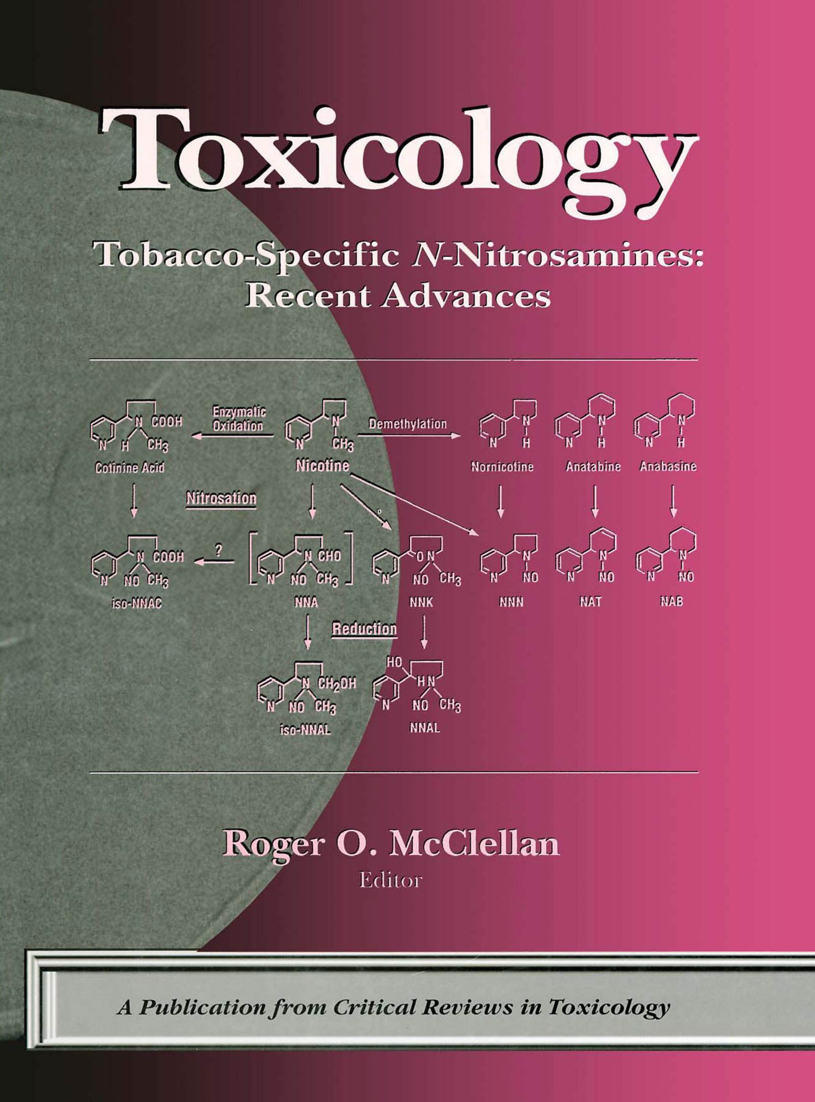 Tobacco-Specific N-Nitrosamines Recent Advances