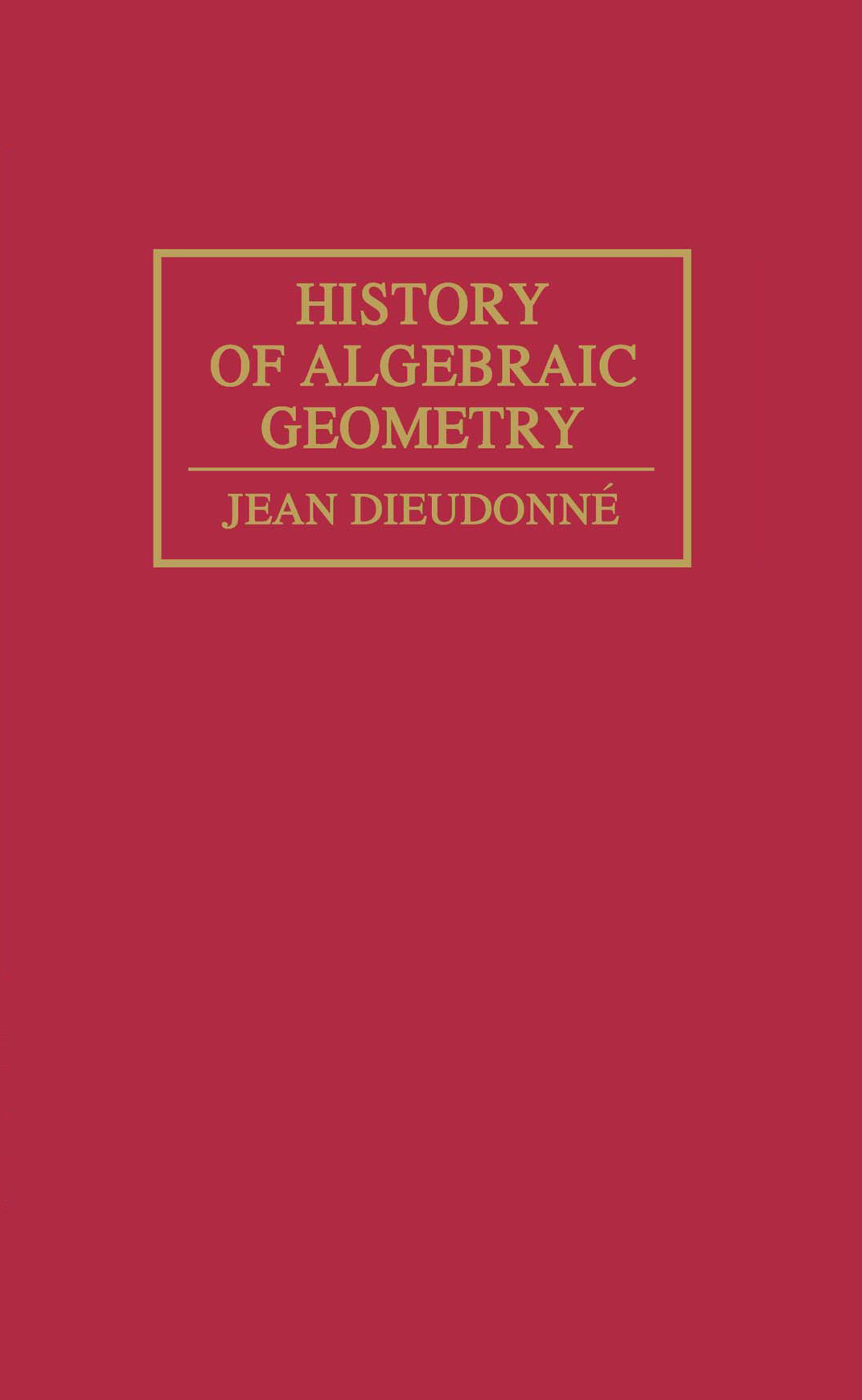 History Algebraic Geometry