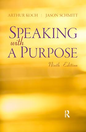 Speaking With A Purpose (Paperback) book cover
