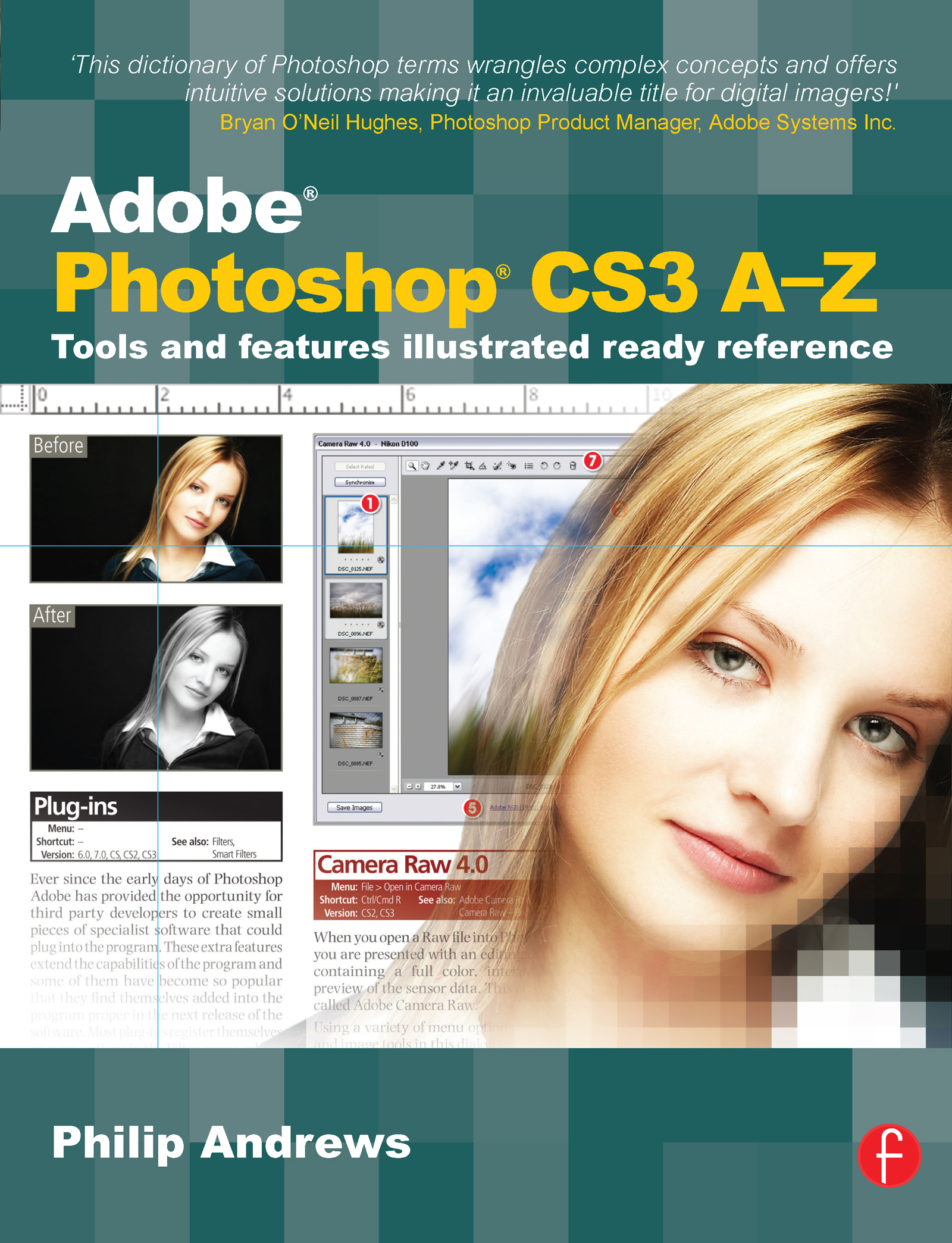 Adobe Photoshop CS3 A-Z: Tools and features illustrated ready reference book cover