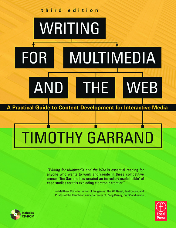 Writing for Multimedia and the Web: Content Development for Bloggers and Professionals, 3rd Edition (Paperback) book cover