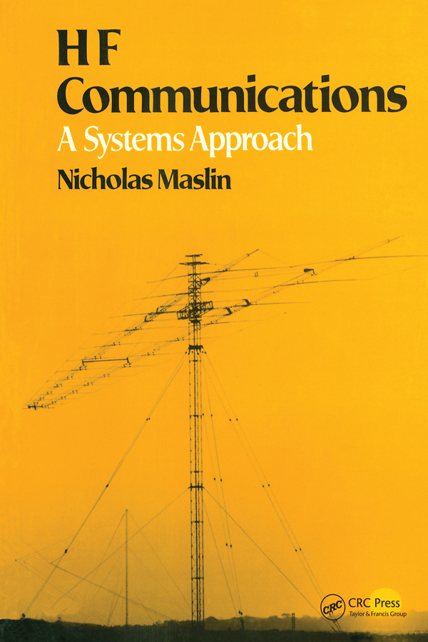 HF Communications: A Systems Approach, 1st Edition (Paperback) book cover