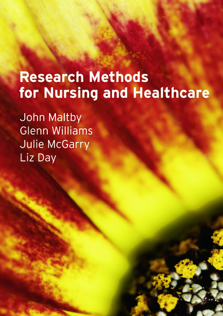 Research Methods for Nursing and Healthcare: 1st Edition (Paperback) book cover