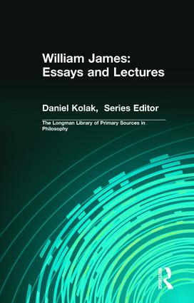 William James: Essays and Lectures: 1st Edition (Paperback) book cover
