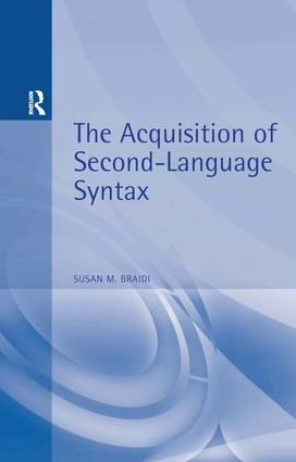 Acquisition of Second Language Syntax: 1st Edition (Paperback) book cover