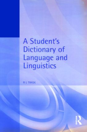 A Student's Dictionary of Language and Linguistics (Paperback) book cover