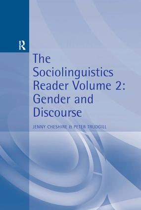 The Sociolinguistics Reader: Volume 2: Gender and Discourse, 1st Edition (Paperback) book cover