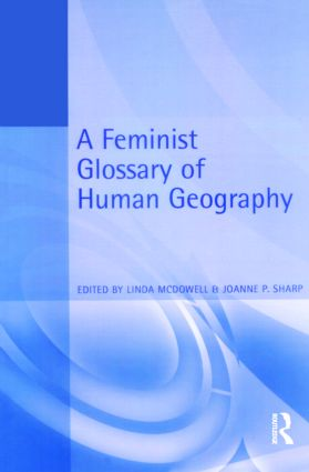 A Feminist Glossary of Human Geography (Paperback) book cover