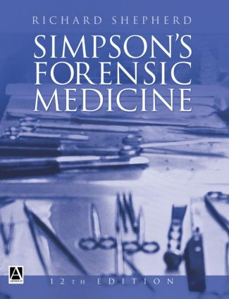 Simpson's Forensic Medicine, 12Ed