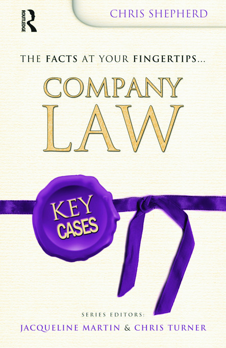 Key Cases: Company Law (Paperback) book cover