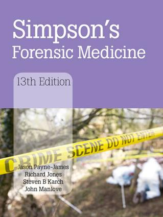 Simpson's Forensic Medicine, 13th Edition: 13th Edition (Hardback) book cover