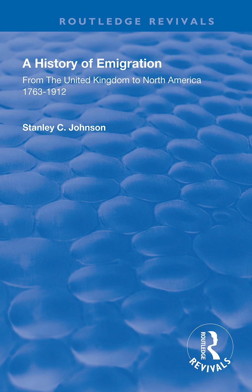 Emigration from the United Kingdom to North America, 1763 – 1912 book cover