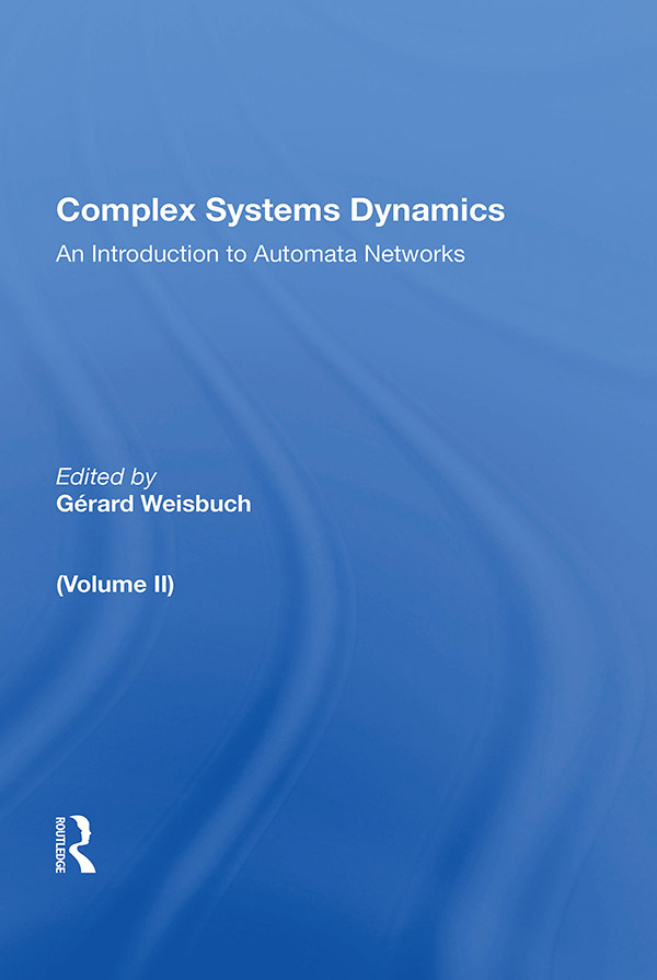Complex Systems Dynamics (volume Ii): 1st Edition (e-Book) book cover
