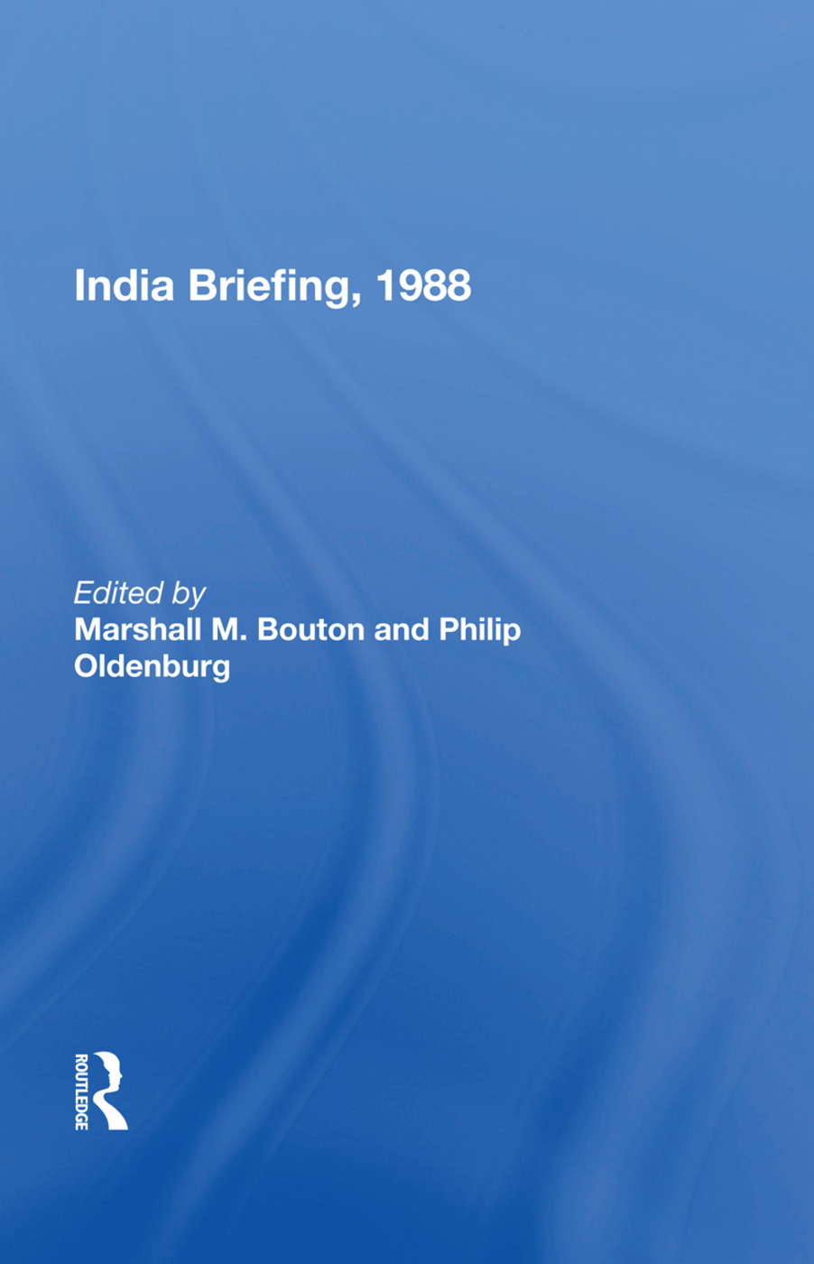 India Briefing, 1988 book cover