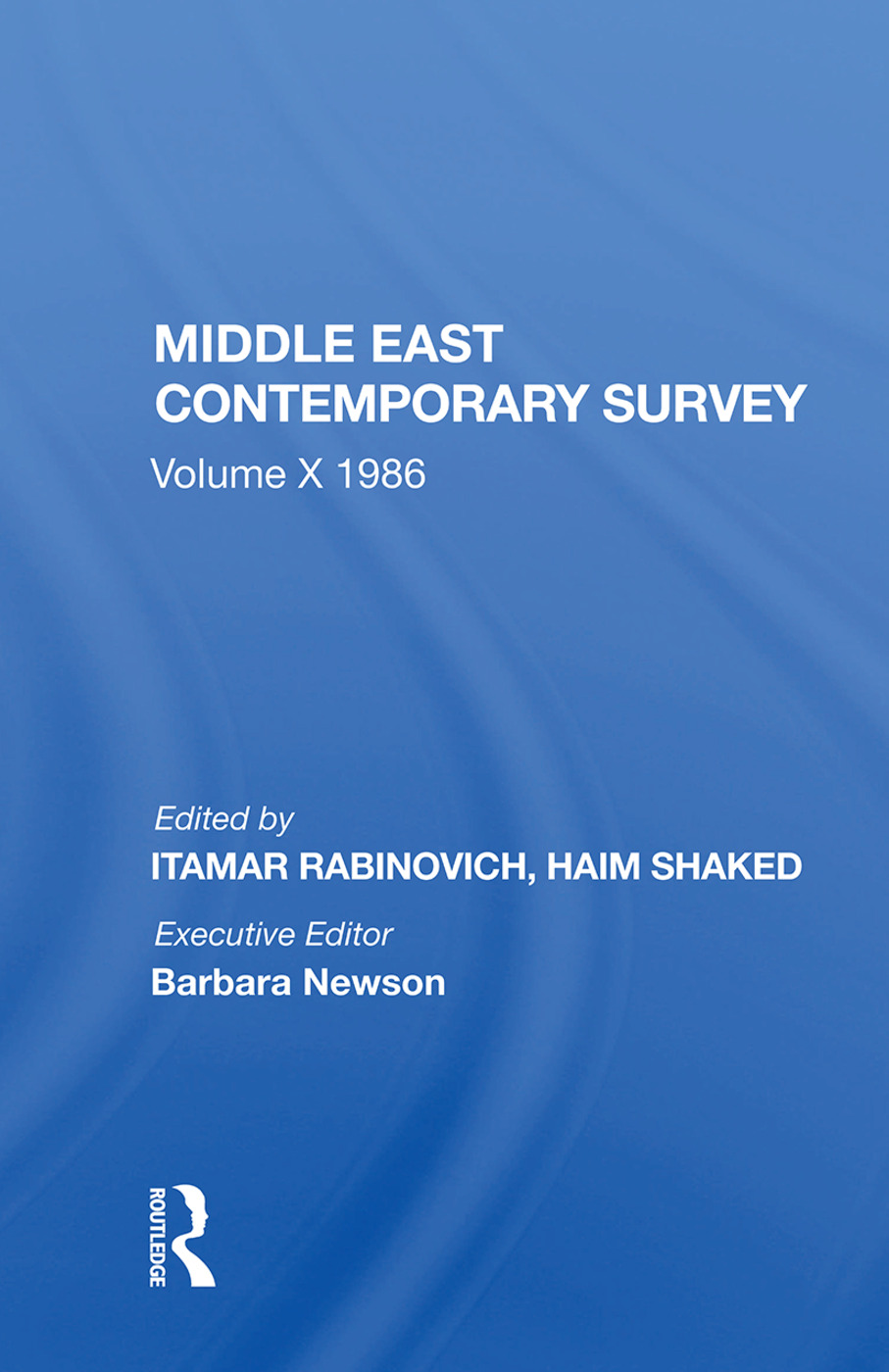 Middle East Contemporary Survey, Volume X, 1986: 1st Edition (Paperback) book cover