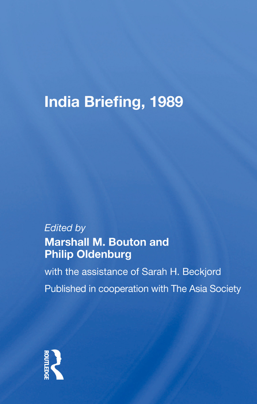 India Briefing, 1989 book cover