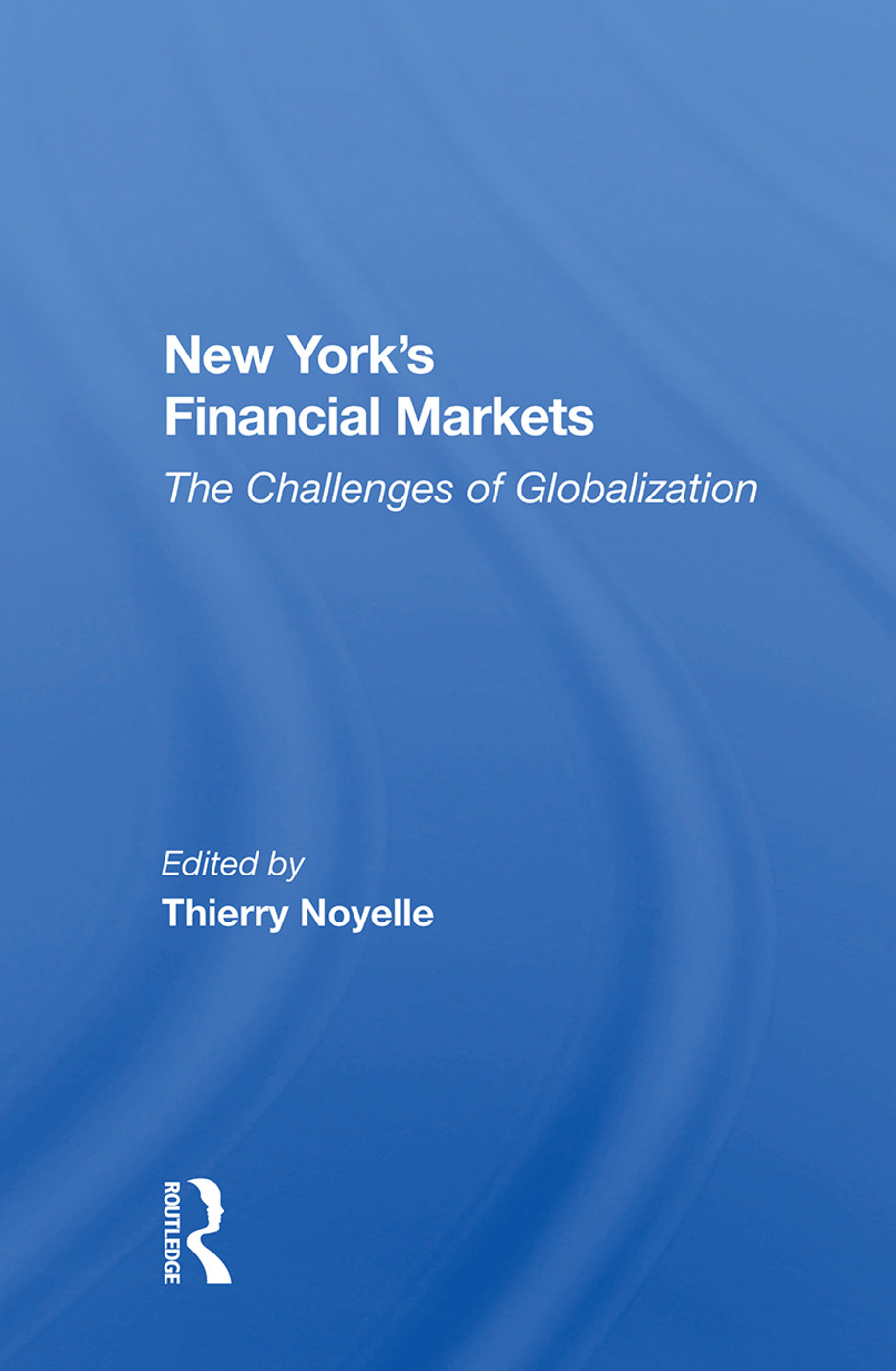 New York's Financial Markets: The Challenges of Globalization book cover